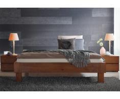Massivholzbett Bett Valentino Eiche Cognac ohne Kopfteil