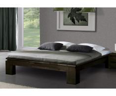 Massivholzbett Bett Vincenzo ohne Kopfteil high mit Bettkastenoption