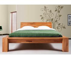 Massivholzbett Bett Jena Kernbuche ohne Kissen high mit Bettkastenoption