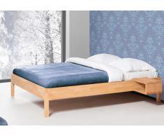 Massivholzbett Bett Vera V ohne Kopfteil mit Bettkastenoption