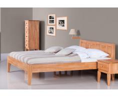 Massivholzbett Bett Elstra mit Bettkastenoption