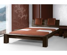 Massivholzbett Bett Jena high mit Bettkastenoption