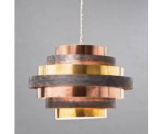 KARE Design Belt Round Coffee Pendelleuchte Ø 60 H: 175 cm, multicolor 33954, EEK: A++. Diese Leuchte ist geeignet für Leuchtmittel der Energieklassen: A++, A+, A, B, C, D, E.