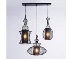 KARE Design Swing Iron Tre Pendelleuchte 3-flammig B: 119 H: 117 T: 43 cm, schwarz 31658, EEK: A++. Diese Leuchte ist geeignet für Leuchtmittel der Energieklassen: A++, A+, A, B, C, D, E.