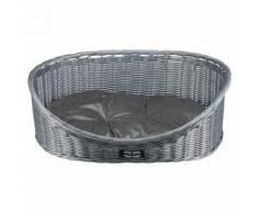 Hundekorb Polyrattan grau, 60 cm