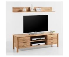 LYON TV Lowboard + Wandboard Set Eiche Wildeiche massiv geölt
