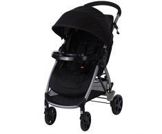 Safety 1st Step & Go Kinderwagen, Easy-Open: einfach per Pedal zu öffnen und leicht über Schlaufe im Sitz zusammen zu falten, geeignet ab 6 Monaten bis max. 15 kg, schwarz