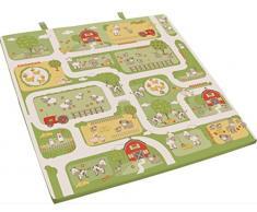 roba Spiel-& Krabbelmatratze Bauernhof, Babymatratze 60x120cm, klappbar zu Spielmatte & Krabbelunterlage 120x120cm,