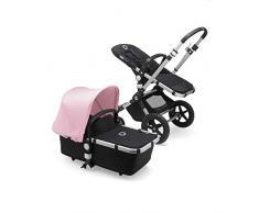 Bugaboo Cameleon 3 Plus, 2-in-1 Erstlings- und Kinderwagen, Schwarz/Soft Pink