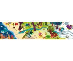 Wandpiraten Kinder Wandbild Fototapete Zoo-ABC 200 x 46,5 cm