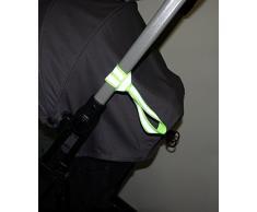 Sunnybaby 10777 Kindergriff-Reflexband zur Befestigung am Kinderwagen, Buggy, Laufrad, etc, Farbe: neongelb - universell einsetzbar - für MEHR SICHERHEIT im Straßenverkehr