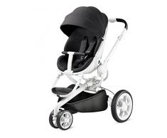 Quinny Moodd Kinderwagen, mit automatischer Aufklappfunktion, Ruheposition in beide Fahrtrichtungen, modernes Design, ab der Geburt bis ca. 3,5 Jahre, black irony