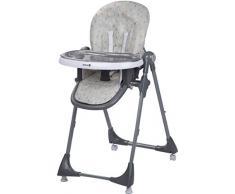 Safety 1st Hochstuhl Kiwi, höhenverstellbar, Tisch mit abnehmbarem Tablett, kompakt zusammenklappbar, ab ca. 6 Monate bis max. 15 kg, warm grey