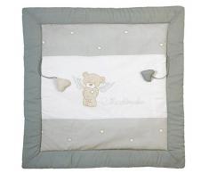 roba Spiel- & Krabbeldecke Heartbreaker, Babys gepolsterte Spielunterlage/Laufgittereinlage 100x100cm, 100% Baumwolle, inkl. Baby-Spielzeug