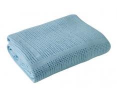 Clair de Lune Decke für Kinderwagen und Reisen, extra weiche gebürstete Baumwolle, Blau