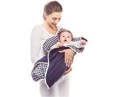 Wallaboo Einschlagdecke Fleur für Babyschale, Autokinderstitz, für Kinderwagen, Suße Blumenform, 0 - 12 Monaten, Farbe: Blau Vichy