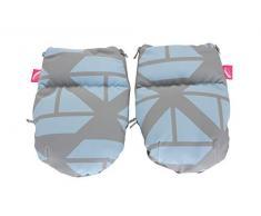 1 Paar Handwärmer Muffs für Kinderwagen - aus Softshell (Schiffe blau)