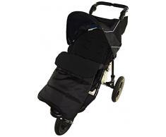 Cosy Toes Fußsack, geeignet für den Mountain Buggy Swift Kinderwagen, Black Jack