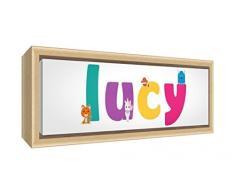 Little Helper LYA-COASTERANDPLACEMAT-15DE Personalisiert, Mädchenname Untersetzer und Platzdeckchen mit Hochglanz-Finish, Lya