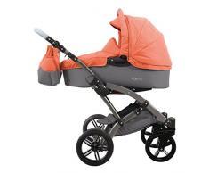 knorr-baby 3200-03 Kombikinderwagen Voletto Happy Colour, grau-orange