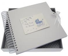 New Baby, Karte & Speicher Buch, blauer Kinderwagen & Wimpelkette