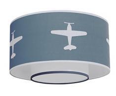 TAFTAN LPC-66 Deckenleuchte Flugzeug, blau