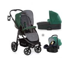 Hauck 143193.0 Soul Plus Trio Set Kinderwagen Komplettset Emerald, grün
