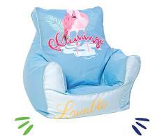 Delsit Kindersitzsack Kinder Sitzsack Spielzimmer Kindersessel für Jungen und Mädchen Flamingo, blau
