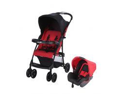 Safety 1st 1910530000 Taly praktischer 2 in 1 Duo Kinderwagen Buggy + passender Babyschale, nutzbar ab der Geburt bis 15kg, rot