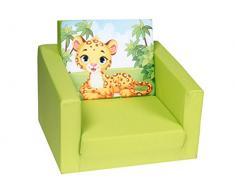 Delsit Kindersessel zum Ausklappbare Kinder Baby Sessel Spielzimmer Kindermöbel für Jungen und Mädchen, Camping, blau