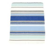 Urra 350 - 4745 - 01 - Jacquarddecke, 75/100 Streifen blau-grau