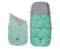 Universal Fußsack für Babyschale, Kinderwagen und Buggy, Farbe: MINT LEAVES
