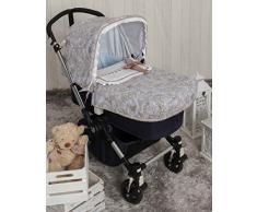 Babyline bgboo Spaziergänge von Toile Tagesdecke für Kinderwagen grau