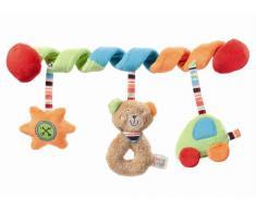 Fehn 091212 Activity-Spirale Oskar, klein / Stoff-Spirale zum Greifen und Fühlen für Kinderwagen, Laufgitter anpassbar / Für Babys und Kleinkinder ab 0+ Monaten / Maße: 26 cm lang