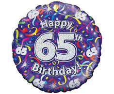 Suki Gifts S9227444 65. Geburtstag Luftschlangen Folienballon, violett