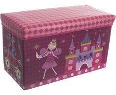 Bieco 04000499 Staubox und Sitzbank Prinzessin, circa 60 x 30 x 35 cm