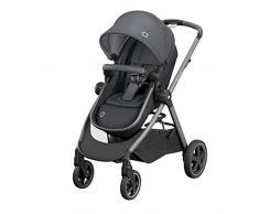 Bébé Confort 1210750210 Zelia, Kinderwagen zur Geburt, Citadine und leicht, Sitz umwandelbar in Babywanne, von Geburt bis 3, 5 Jahre (0-15 kg), Essential Graphit