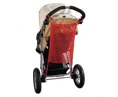 sunnybaby 12268 - Einkaufsnetz, Universalnetz für Jogger - Kinderwagen   mit Ankerverschluss - Farbe: ROT   Qualität: MADE in GERMANY
