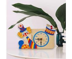 Dida - Analoge Tischuhr - Clown mit Trommel - Für Das Kinderzimmer, Den Nachttisch Oder Den Schreibtisch