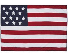 TAFTAN SM-080 Tagesdecke Amerikanische Flagge, mehrfarbig