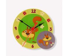 Dida - Analoge Tischuhr - Eichhörnchen - Für Das Kinderzimmer, Den Nachttisch Oder Den Schreibtisch