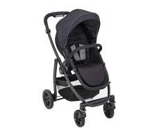 Graco Evo Sportwagen, 0-15 kg, auch als Travel System und Kombikinderwagen, Sitzeinheit wendbar, inkl. Fußsack und Regenverdeck, Farbe Black/Grey