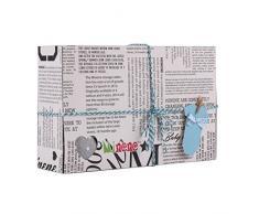Minene Luxurious Geschenk-Box, beinhaltet gestreiften Pyjama mit Wandleuchte, Mütze, Voile mit und Herzlein Wandleuchte aus Stoff, Blau
