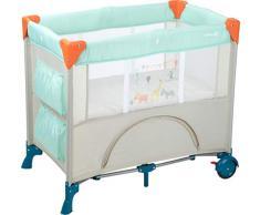 Safety 1st Reisebett Mini Dreams, praktisches Kinder-Reisebett mit 2 Rollen (L88 x H76 x W59 cm), inkl. Matratze und Transporttasche, kompakt zusammenfaltbar, Happy Day