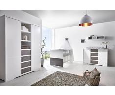 Schardt 11 866 32 02 Kinderzimmer 3 - teilig Maxx Fleetwood bestehend aus Kombi - Kinderbett, 70 x 140 cm
