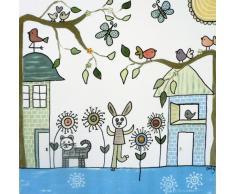 Orly Kunst für Kinder Wandbild Hase, 40 x 40 cm