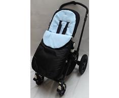 Fußsack/COSY TOES kompatibel mit Kinderwagen Buggy Kinderwagen Kinderwagen hellblau