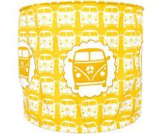TAFTAN LP-917 Pendelleuchte Stoff das Auto, diameter 35 cm, gelb