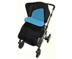 Fußsack/COSY TOES kompatibel mit Joie Aire Lite Kinderwagen Kinderwagen Ocean Blau