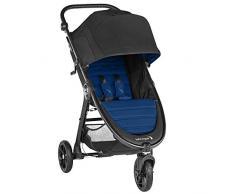 Baby Jogger City Mini Gt2, leichter Kinderwagen für Jedes Gelände, Schneller Einhand-Faltmechanismus, Windsor (schwarz/blau)